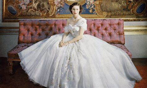 Princess Margaret on her 21st Birthday in a Christian Dior