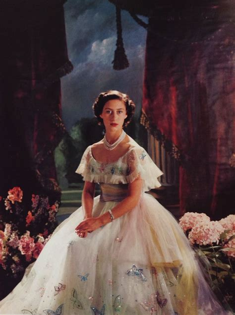 Princess Margaret wear Norman Hartnell for her 19th
