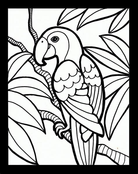 Parrot coloring page - Print