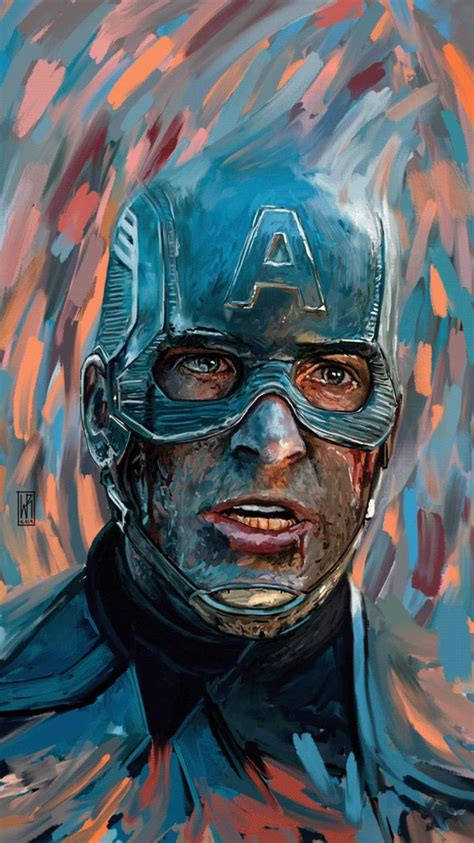 Captain America Art iPhone Wallpaper (With images
