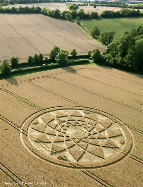 Crop Circle at Bydemill Copse, near Hannington, Wiltshire